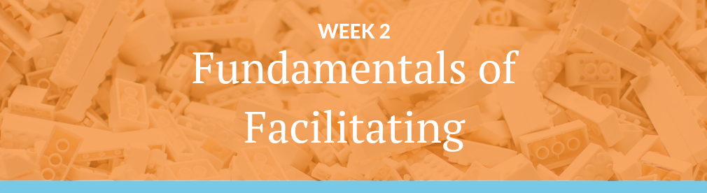 Image with text: Week 2 - Fundamentals of Facilitating - Guided Meditation Teacher Training