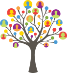 Clip art of tree with people on it to represent our guided meditation teacher training community