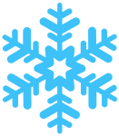 Clip art of a snowflake to represent our unique approach to guided meditation teacher training