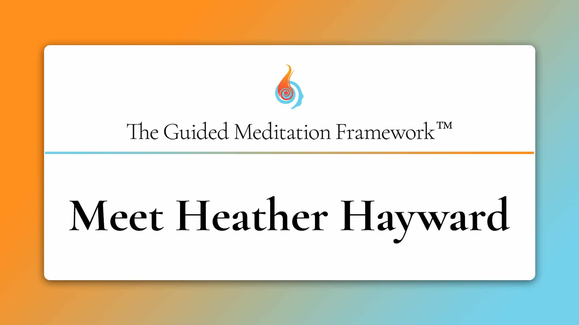 about The Guided Meditation Framework
