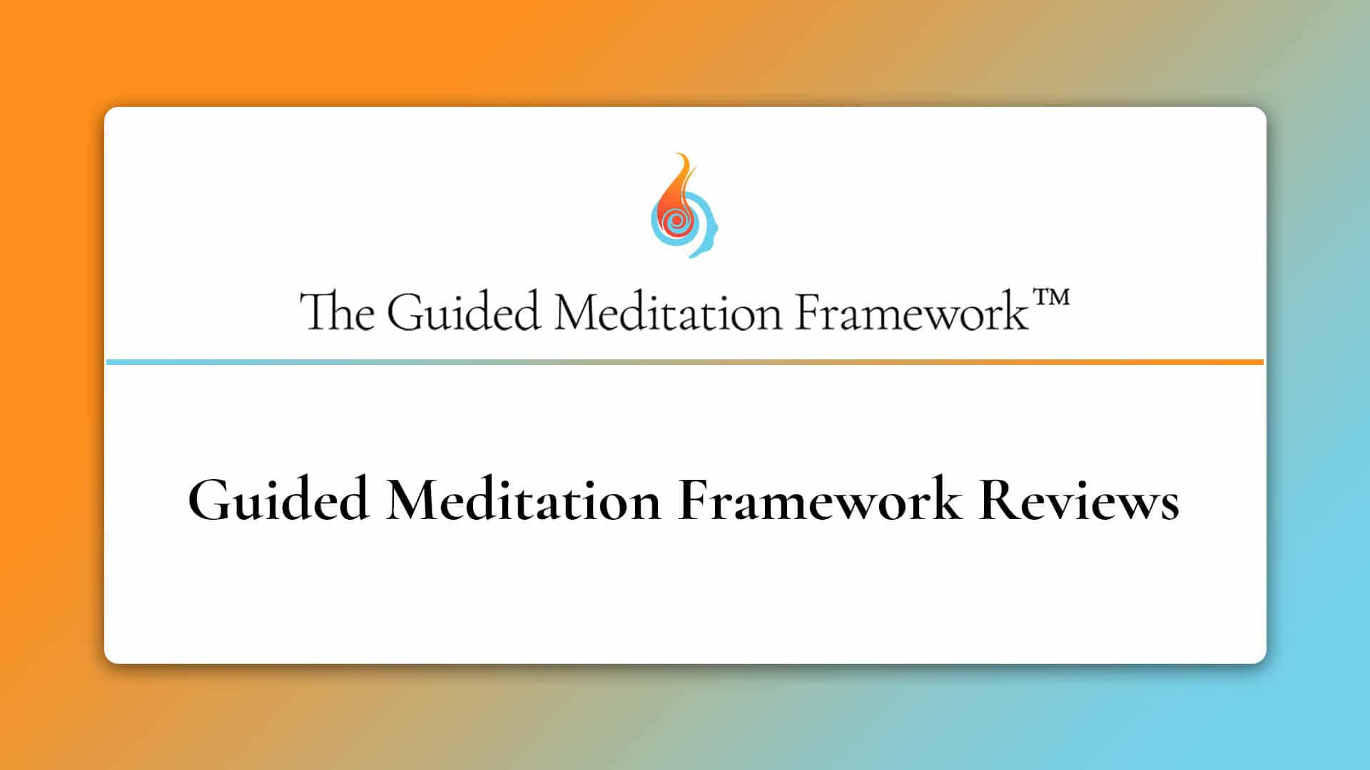 The Guided Meditation Framework reviews